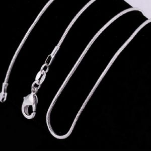 "22"" Inch .925 Sterling Silver Snake Chain"